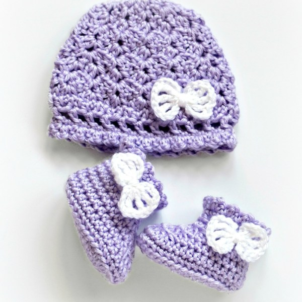 Crochet Pattern: Georgie Hat and Booties Set