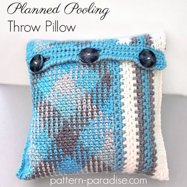 Free Crochet Pattern: Planned Pooling Throw Pillow