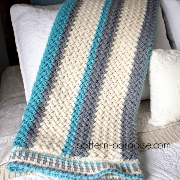 Free Crochet Pattern: Pillow Soft Throw Blanket