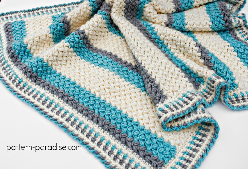 Free Crochet Pattern Pillow Soft Throw Blanket Pattern Paradise