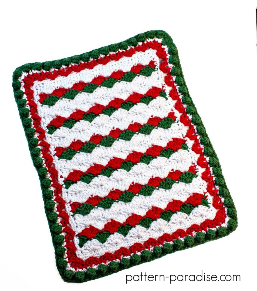 Free Crochet Pattern: Holiday Helper Dish Towel | Pattern Paradise