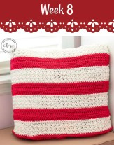 Week 8 Crochet Pillow on #12WeeksChristmasCAL Pattern-Paradise.com