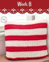 Week 8 Crochet Pillow on #12WeeksChristmasCAL Pattern-Paradise.com