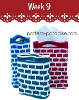 Free Crochet Pattern Down the Chimney Gift Bags by Pattern-Paradise.com #12WeeksChristmasCAL