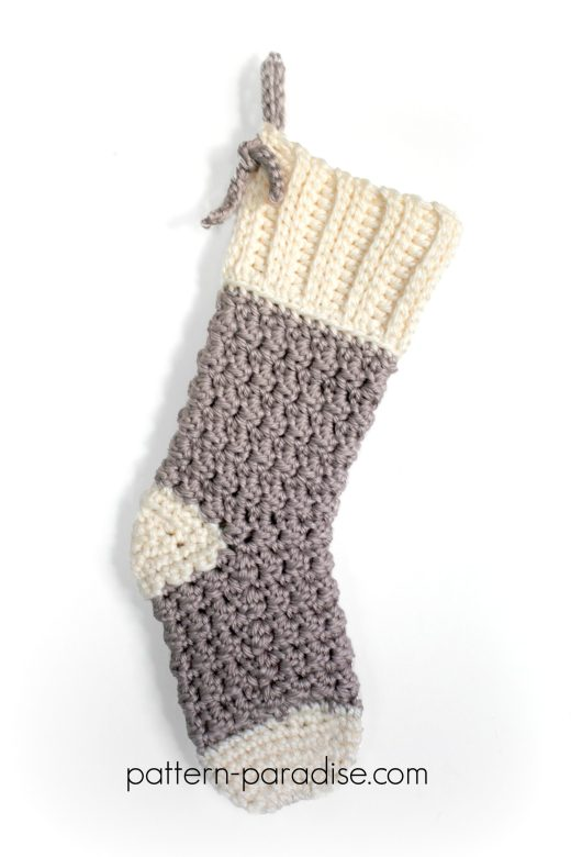 Free Crochet Pattern Cozy Cottage Christmas Stocking Pattern Paradise