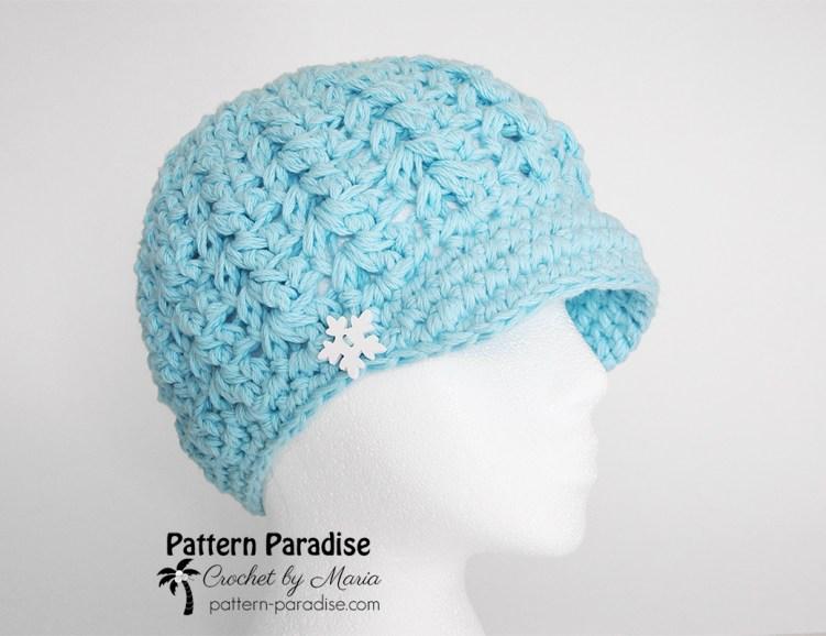 Free Crochet Pattern: Felicity Newsboy Hat | Pattern Paradise