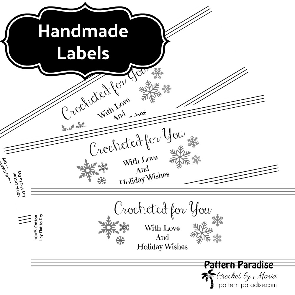 Printable: Holiday Crocheted For You Template