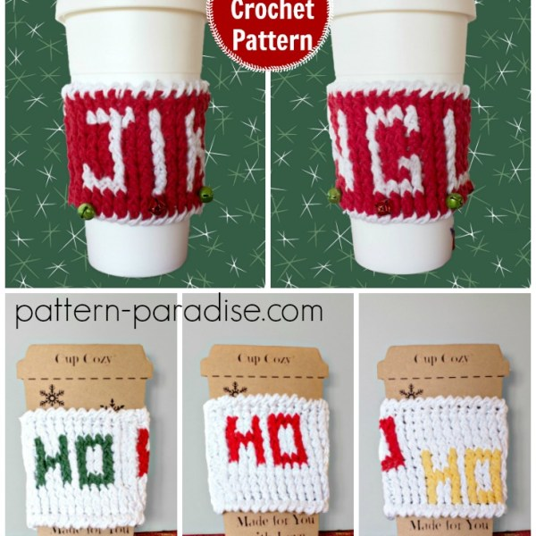 Free Crochet Pattern: Holiday Cup Cozy