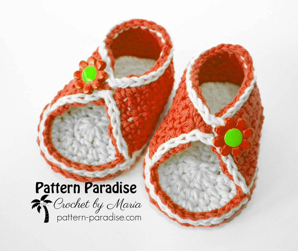 Free Crochet Pattern Peek A Boo Sandals Pattern Paradise