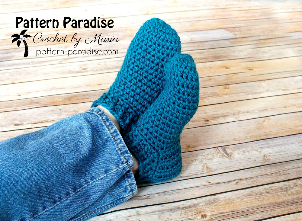 Free Crochet Pattern Snappy Slippers Pattern Paradise