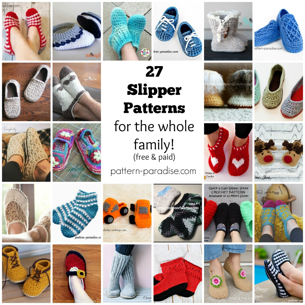 Crochet Finds Crocheted Slippers Pattern Paradise