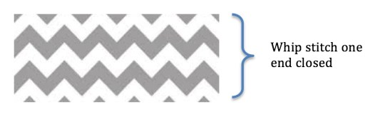peaks and valleys chevron pillow