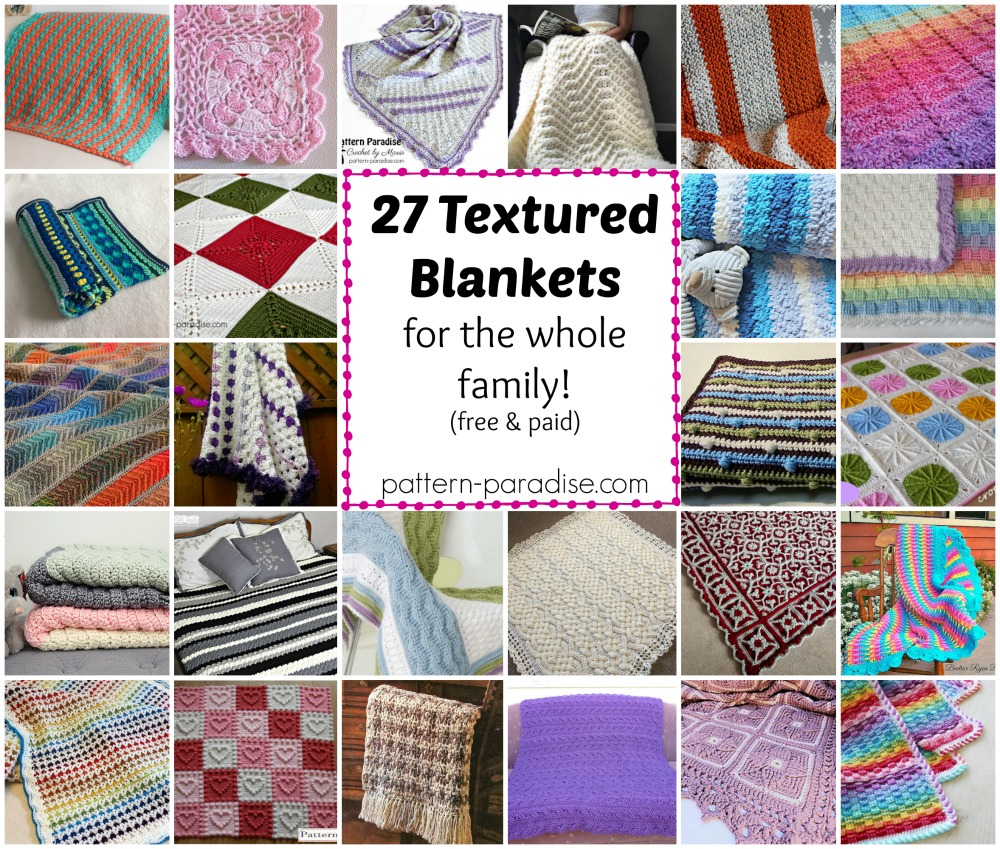 Crochet Finds Textured Blankets And Throws Pattern Paradise