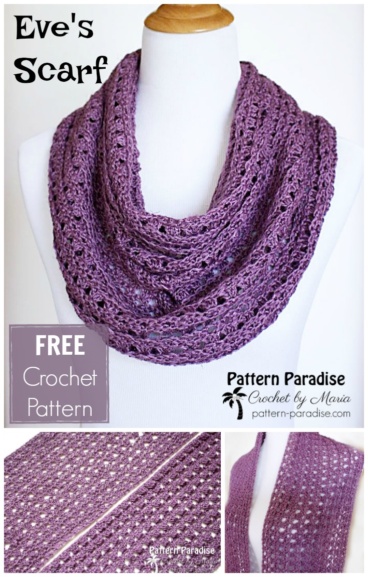 Free Crochet Pattern: Eve\'s Scarf | Pattern Paradise