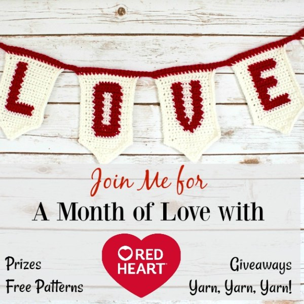 Red Heart Month of Love on Pattern Paradise
