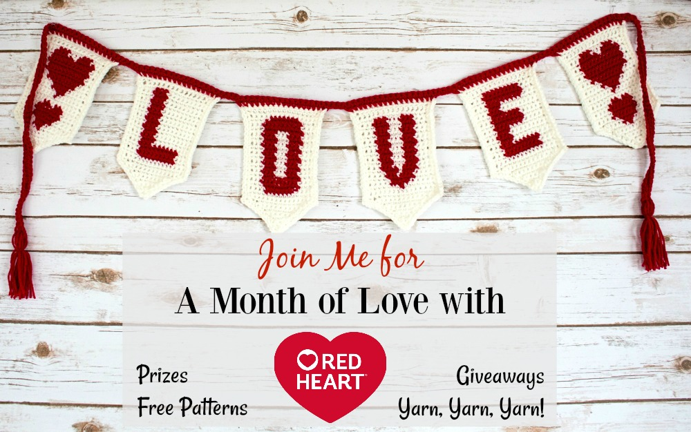 Month Of Love With Red Heart 2018 Pattern Paradise