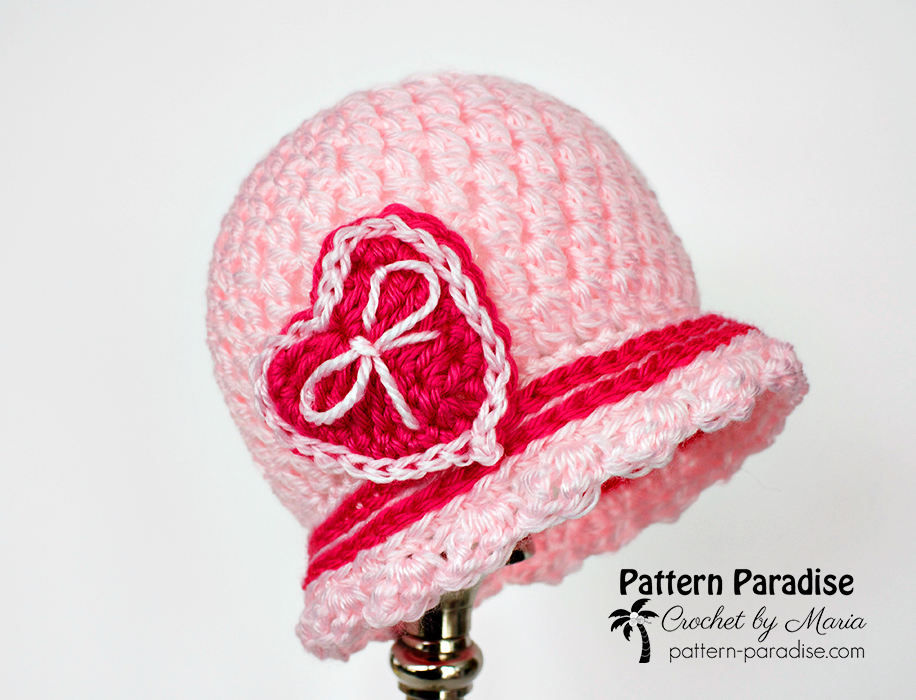Free Crochet Pattern Sweetheart Cloche Pattern Paradise