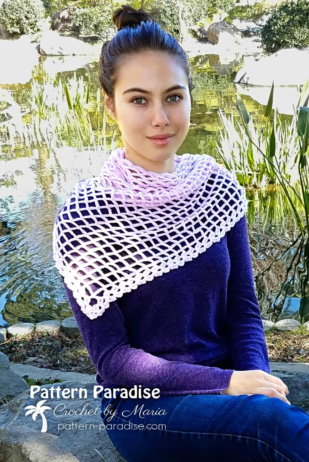 Free Crochet Pattern Valerie Shawl Wrap by Pattern-Paradise.com