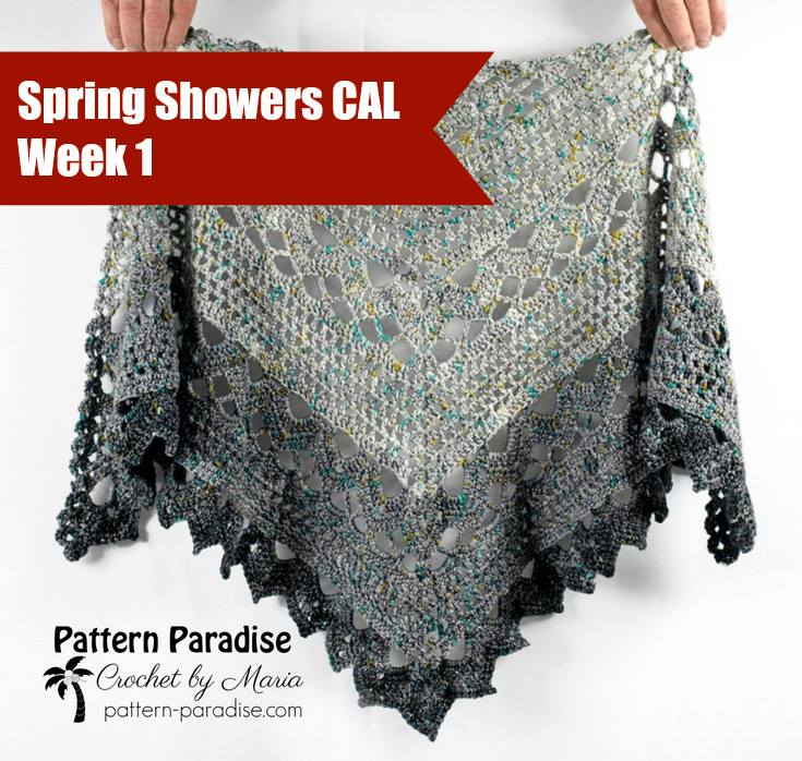 Spring Showers Shawl Cal Part 1 Pattern Paradise
