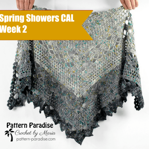 Spring Showers Shawl CAL: Part 2