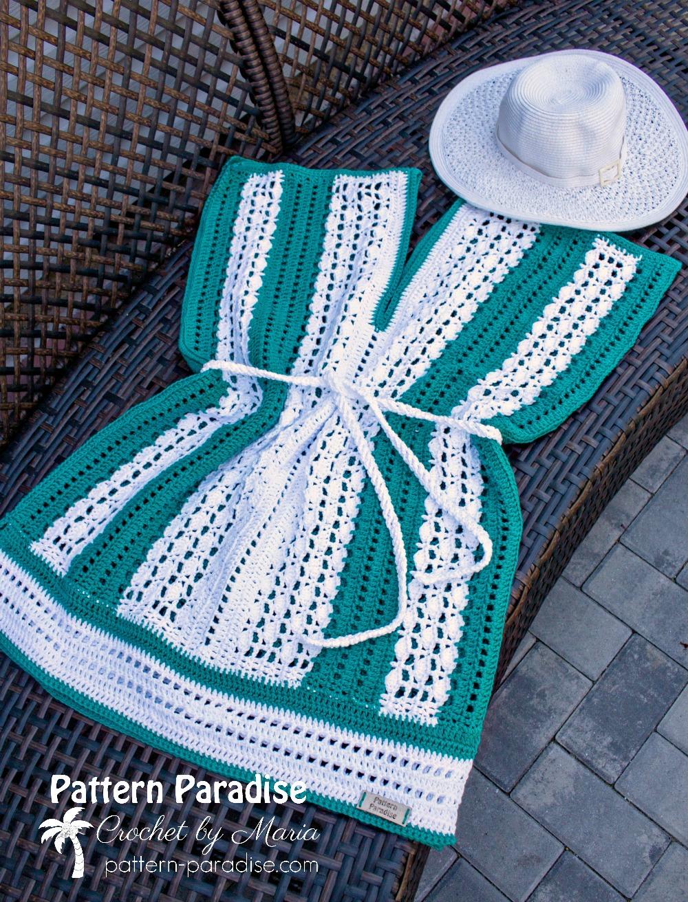 Free Crochet Pattern Weekender Tunic Beach Cover Up Pattern Paradise