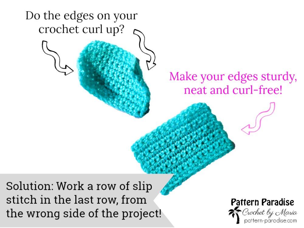 Crochet Tutorial: Non-Curl Crocheted Edge
