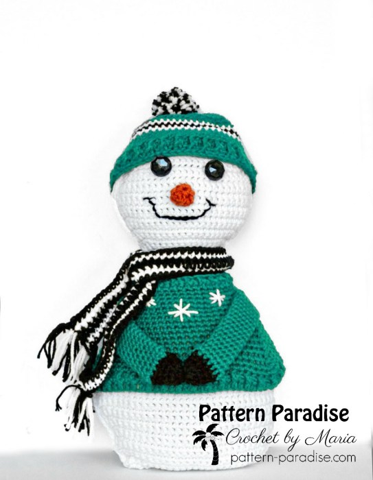 Crochet Pattern Sparkles the Snowman