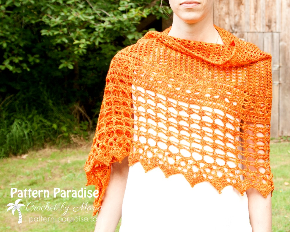 Autumn Jewels Wrap Crochet-Part 3
