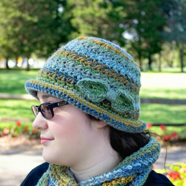Free Crochet Pattern: Colorscape Cloche