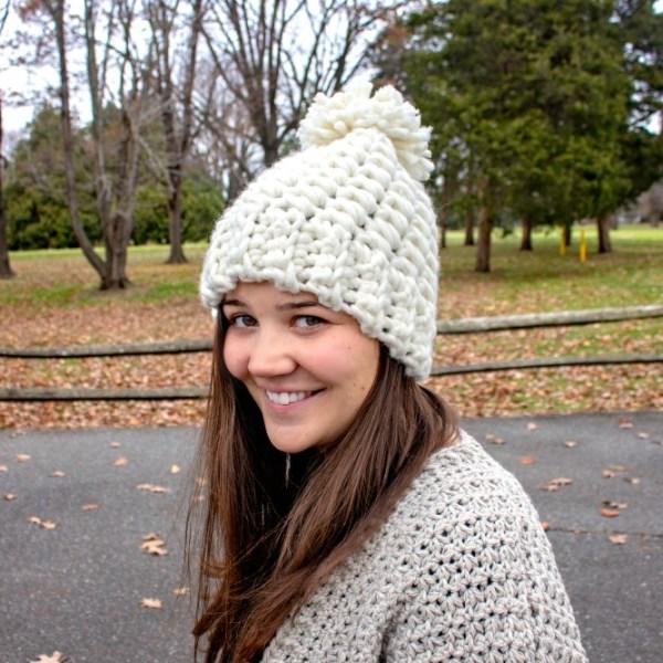 Free Crochet Pattern: Snowdrift Hat