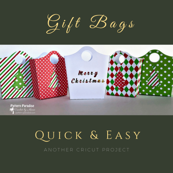 Cricut Project – Quick Small Gift Bags