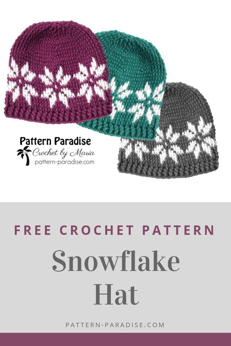 643278d0c68 Free Crochet Pattern  Snowflake Hat