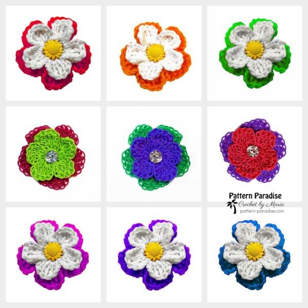 Free Crochet Pattern: Sunny Daisy Flowers