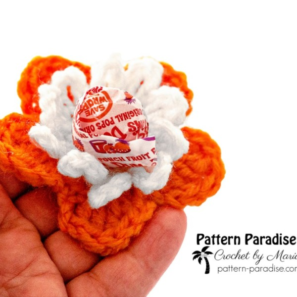 Free Crochet Pattern: Flower Lolli Holders