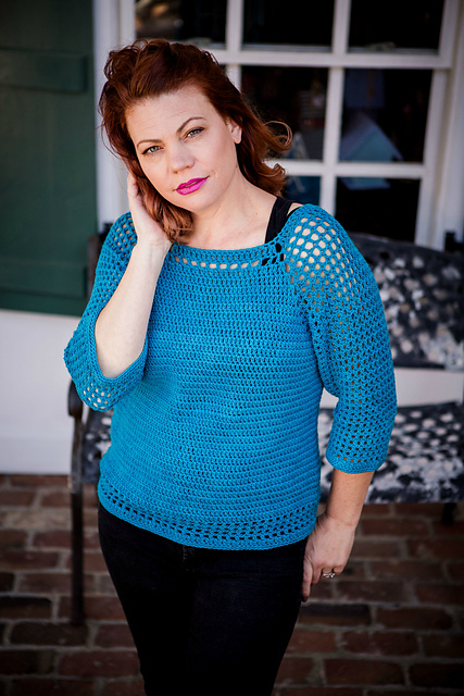 Chelsea Top Crochet Pattern by Pattern-Paradise.com