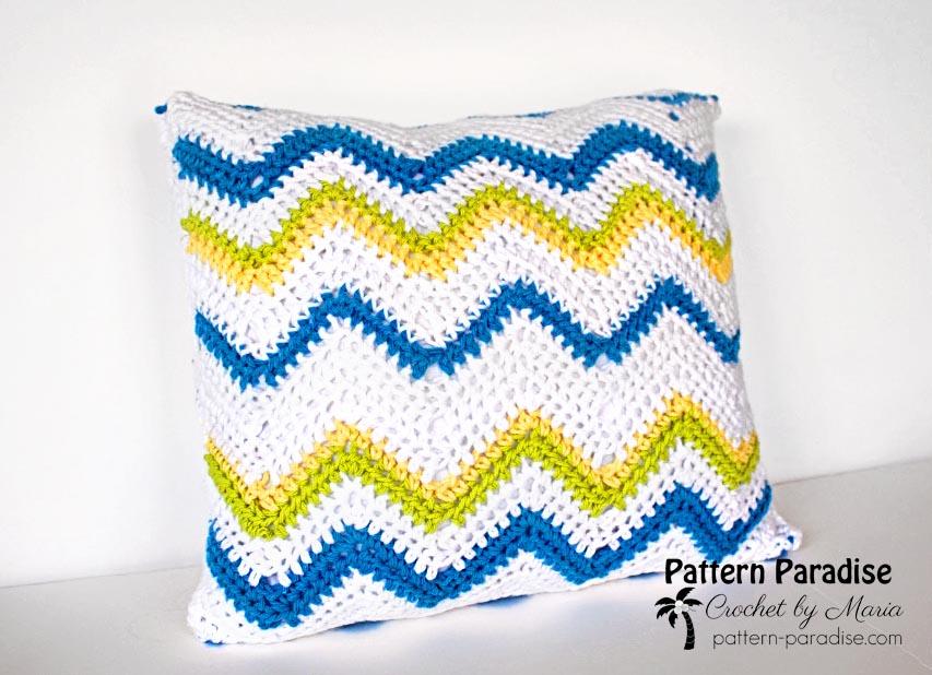 peaks & valleys chevron pillow