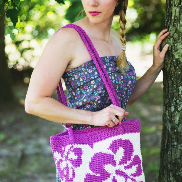 Free Crochet Pattern: Hibiscus Tote Bag