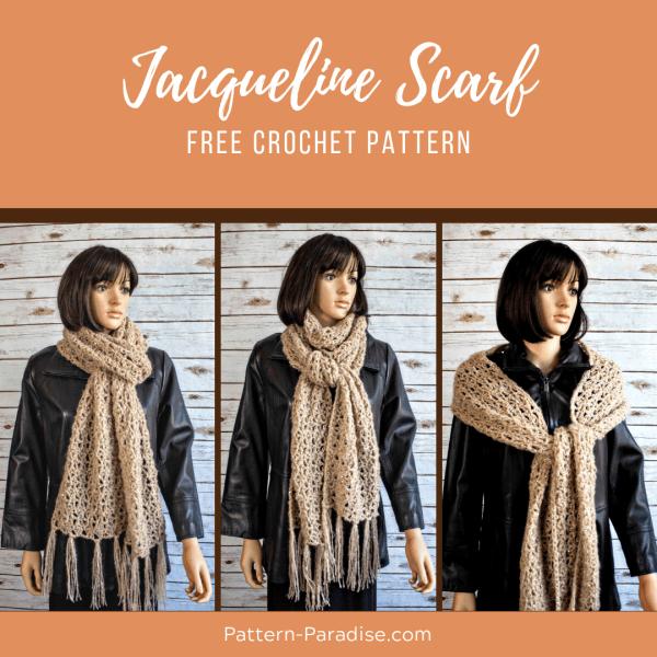 Free Crochet Pattern: Jacqueline Scarf