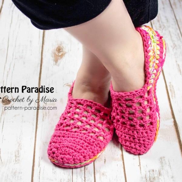 Free Crochet Pattern: Jelly Slippers