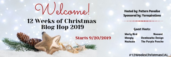 12 Weeks of Christmas Blog Hop 2019 with Pattern Paradise