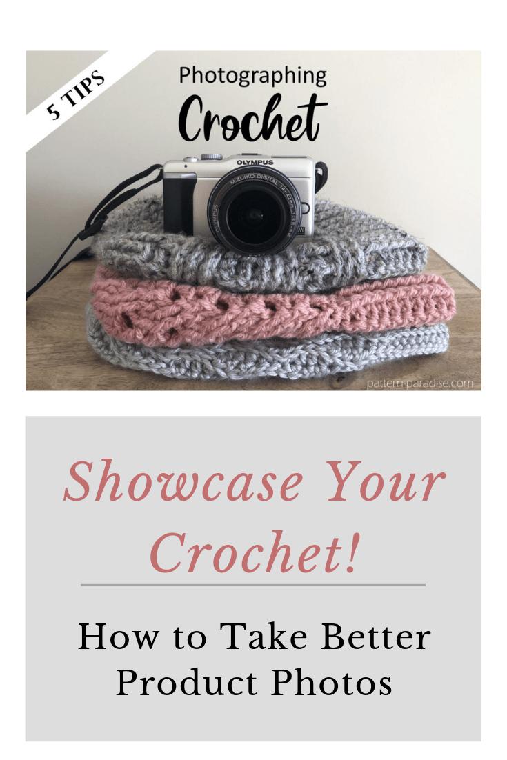 photographing crochet
