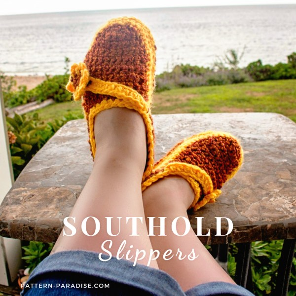 Free Crochet Pattern: Southold Slippers