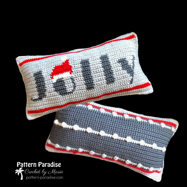 2019 Christmas Blog Hop – Jolly Reversible Pillow