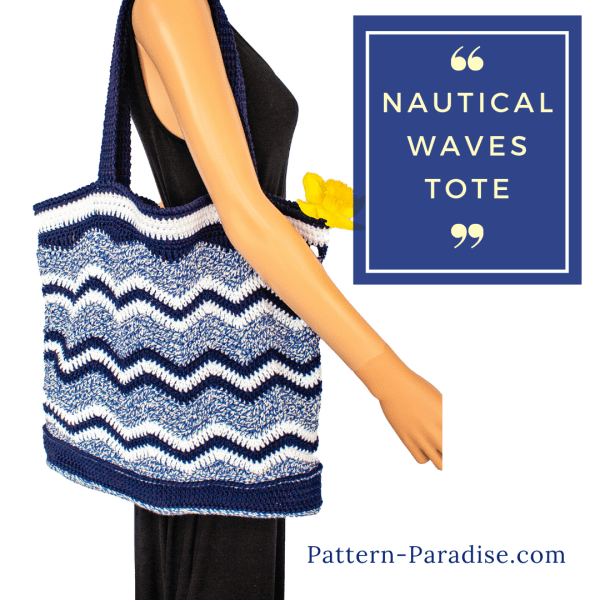 Free Crochet Pattern: Nautical Waves Tote