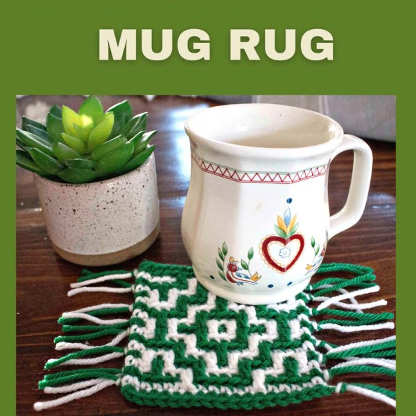 Free Crochet Pattern: Mosaic Crochet Mug Rug