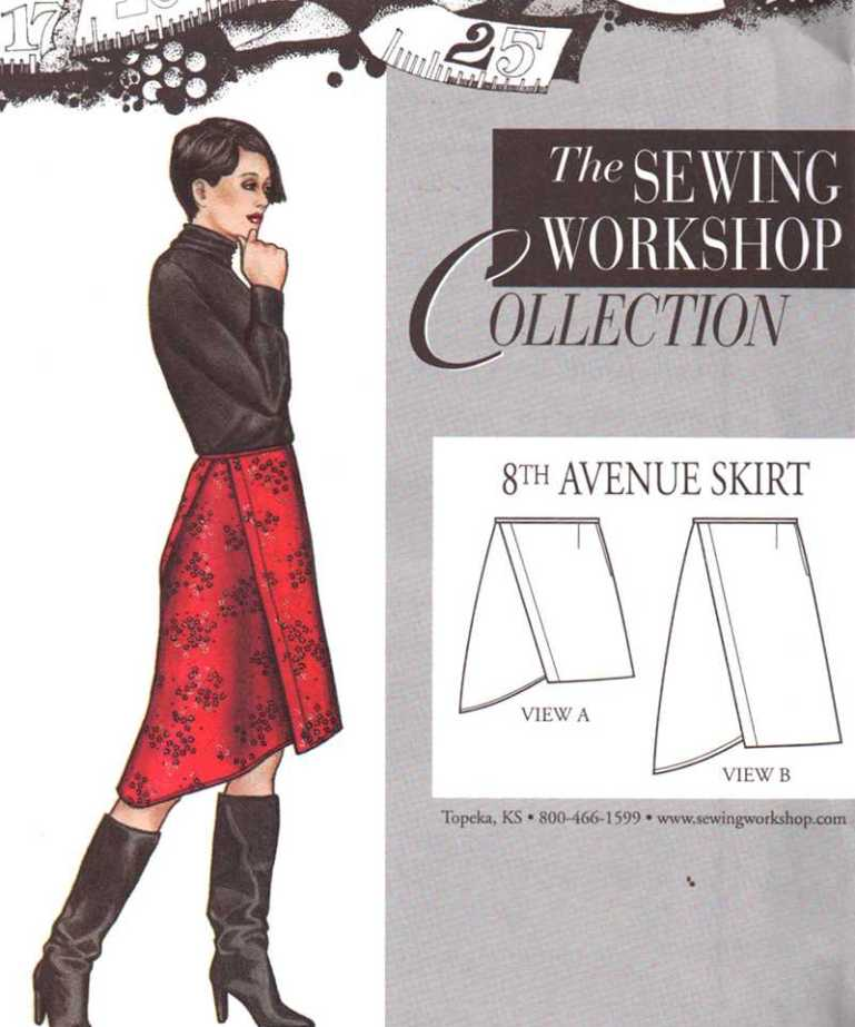 The Sewing Workshop Collection 8th Avenue Skirt Size Xs Xxl Uncut