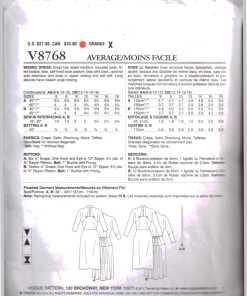 Vogue V8768 1