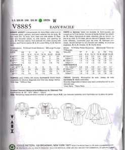 Vogue V8885 1