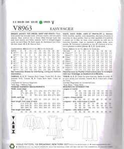 Vogue V8963 1