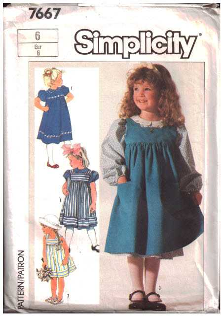 Simplicity 40 Girl's Dress Sundress Jumper Size 40 Uncut Sewing New Sundress Patterns Simplicity